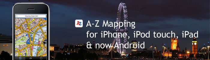 A-Z Maps for iPhone, iPod touch, iPad & Soon Android